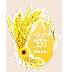 Wheat decoration vector image