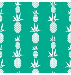 White pineapple pattern vector