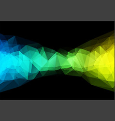 color triangle geometric vector image vector image