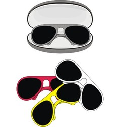 fashionable sunglasses vector image vector image