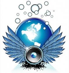 flying speaker vector image vector image