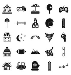 funny children icons set simple style vector image vector image