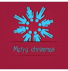 People snowflake vector image vector image