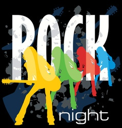 rock night poster vector image