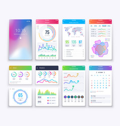 smartphone ui mobile graphic ui and ux vector image vector image