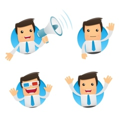 cartoon manager vector image vector image