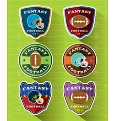 Fantasy American Football Badge Set vector image vector image