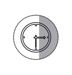monochrome contour sticker of wall clock vector image vector image