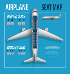 banner poster flyer with airplane seats plan vector image vector image