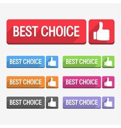 Best Choice Label Flat Design vector image vector image