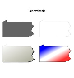 Pennsylvania outline map set vector image vector image