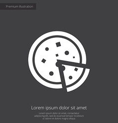 Pizza premium icon vector