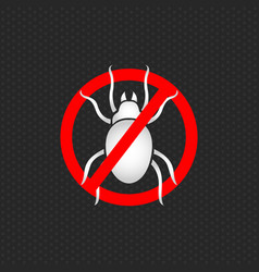 stop dust mites logo vector image