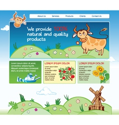 Web template for agricultural business vector image vector image