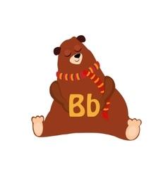 Bear Funny Alphabet Animal vector image vector image