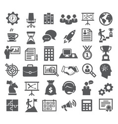 business icons management marketing career vector image vector image