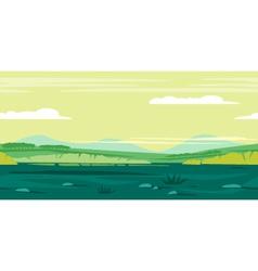 Meadows Game Background Landscape vector image