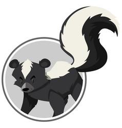 a skunk sticker template vector image