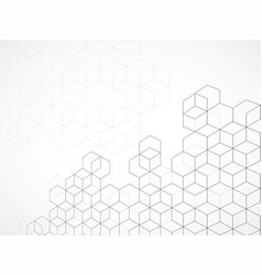abstract geometric background with cubes vector image