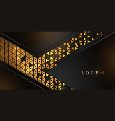 abstract golden triangle pattern background vector image