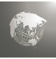 abstract world map sphere Asia vector image