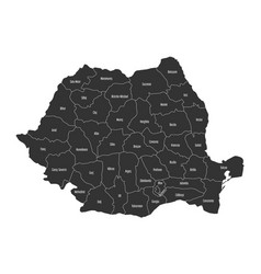 administrative counties of romania map vector image