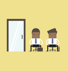 african business people waiting for job interview vector image
