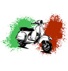 An italian scooter with vector