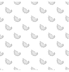 angel wing pattern seamless vector image