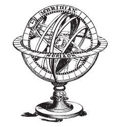 Armillary sphere vintage vector