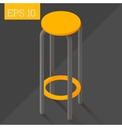 bar chair isometric vector image
