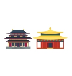 Beautiful asia travel temple vector