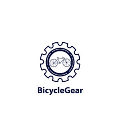 bicycle gear logo vector image