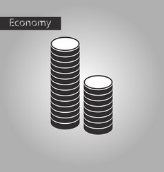 Black and white style icon stacks of coins vector