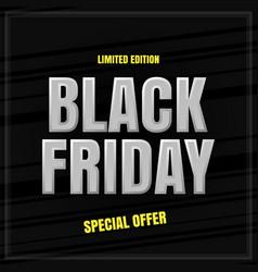 black friday banner banner for advertising vector image