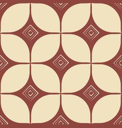block print geometric seamless pattern retro vector image