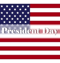 Bright Presidents Day background with american vector