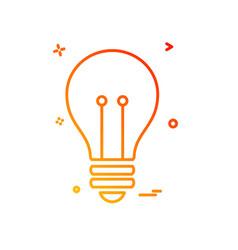 bulb icon design vector image