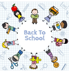 Card back to school vector image vector image