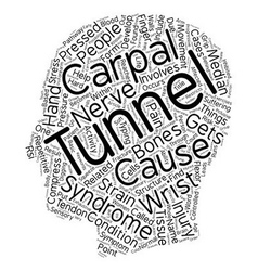 Carpal Tunnel Syndrome An Overview text background vector