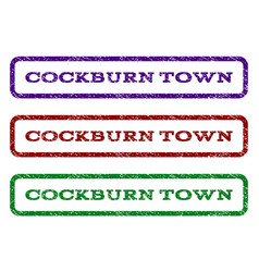 cockburn town watermark stamp vector image