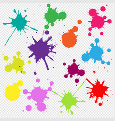 colorful frame with blobs isolated transparent vector image