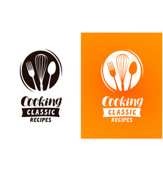 cooking logo or label food cuisine concept vector image