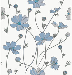 cosmos flowers in blue vector image
