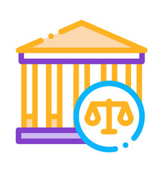Courthouse law and judgement icon vector