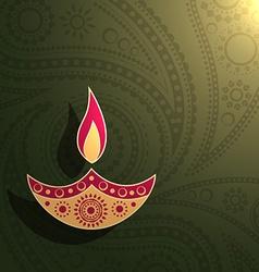Creative diwali design vector
