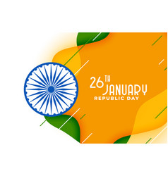 creative indian flag design for republic day vector image