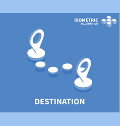 destination icon isometric template vector image