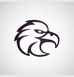 eagle logo template vector image