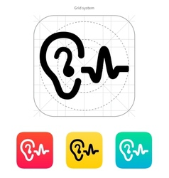 Ear hearing sound icon vector